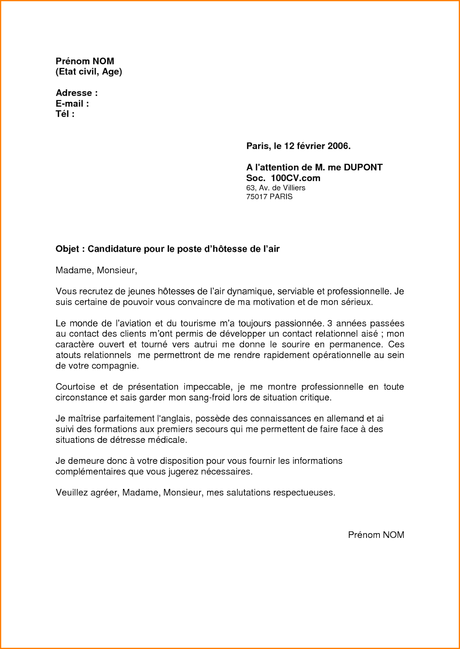 Lettre De Motivation Informatique Candidature Spontanee