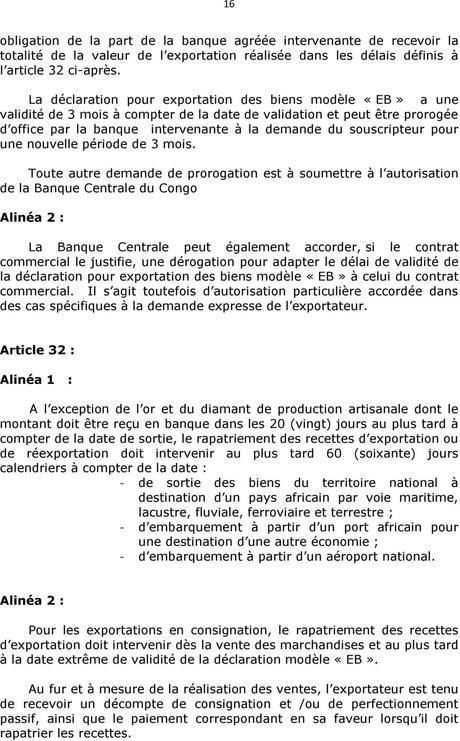 LA REGLEMENTATION DU CHANGE EN REPUBLIQUE DEMOCRATIQUE DU CONGO - PDF