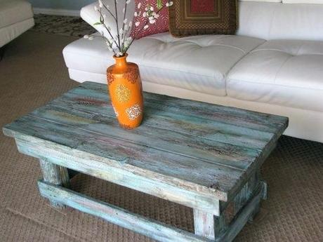 blue distressed coffee table free shipping rustic distressed coffee table with turquoise color pop distressed finish