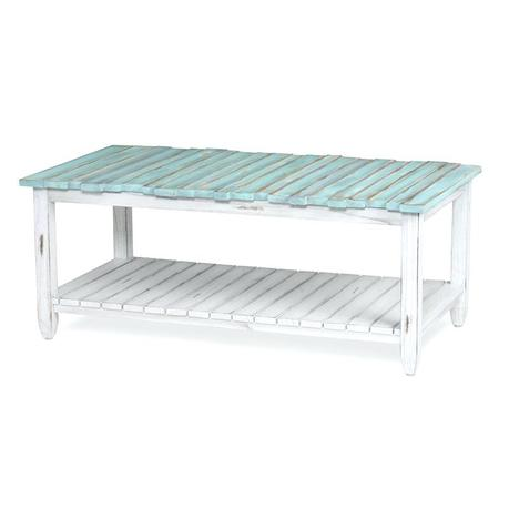 blue distressed coffee table picket fence coffee table