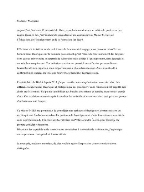 Lettre de motivation par Erwan M - Fichier PDF