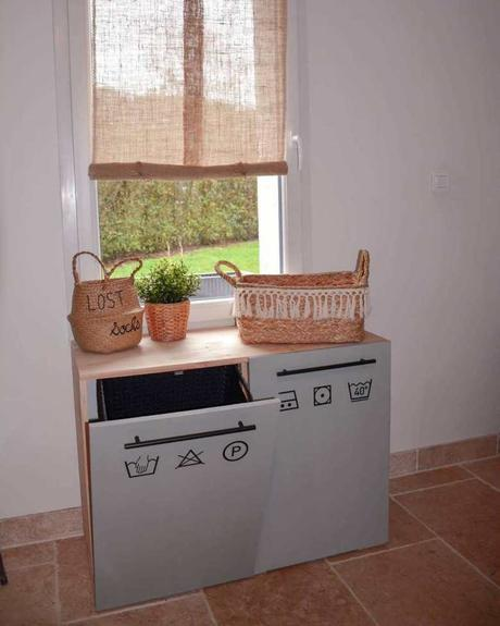 diy meuble à linge buanderie Loisel Industry - blog déco - clemaroundthecorner