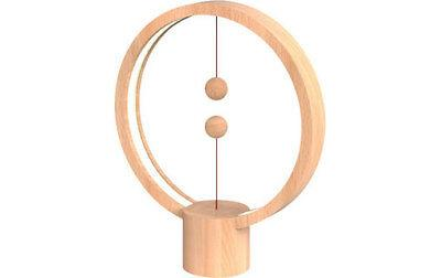 allocacoc Heng Balance Lamp Round Light Wood - Lampe LED design USB