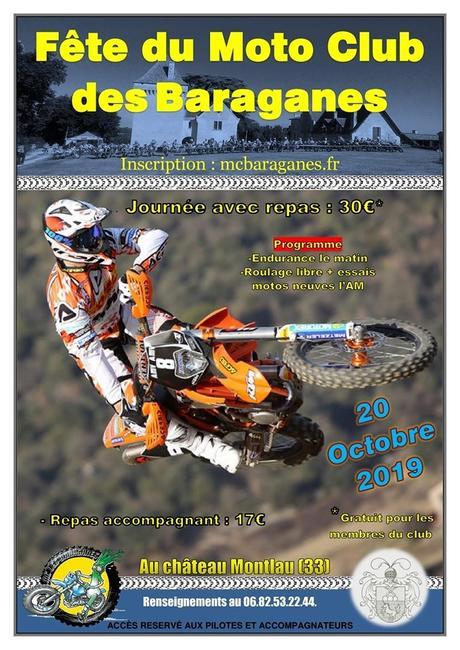 Fête du MC des Baraganes le 20 octobre 2019 au Château Montlau (33)
