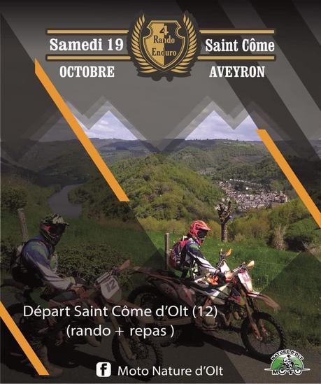 Rando moto le samedi 19 octobre à Saint Côme (12) de Moto Nature d'Olt