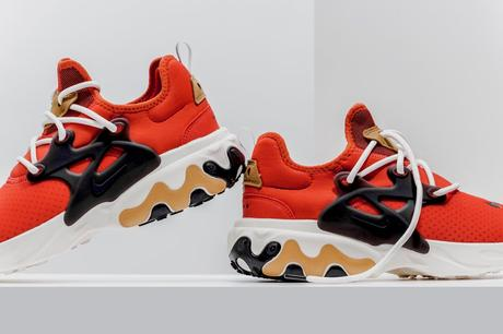 La Nike Presto React est disponible dans un coloris Habanero Red
