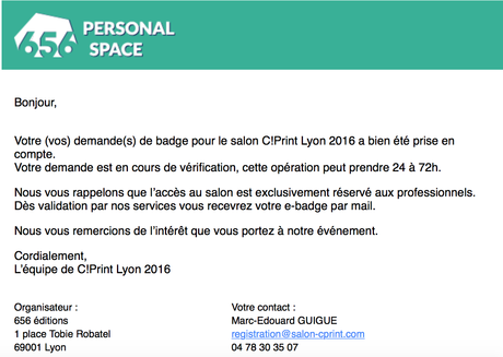 Mail Confirmation Rendez Vous Professionnel – comingtrip.live