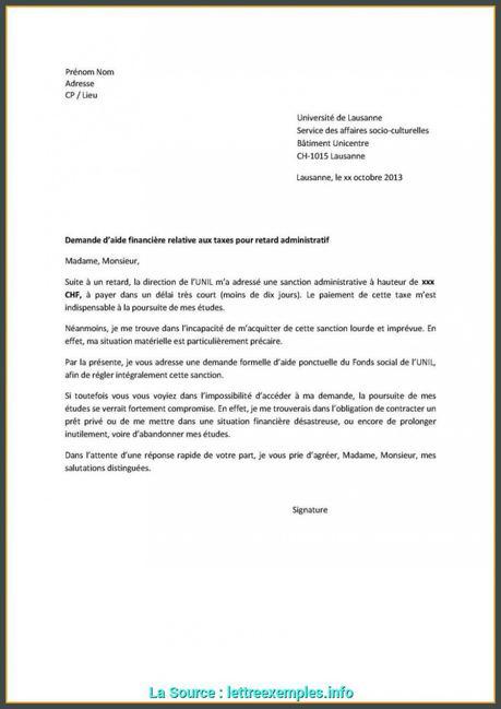 Tendances Lettre De Demande D'Aide Financière Gratuite Exemple De ...