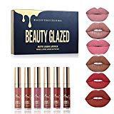 Rouge à lèvres Mat Beauty Glazed 6 Couleur Set Rouge à Lèvres Liquide Mat Longue Tenue Waterproof Liquid Lipstick Matte