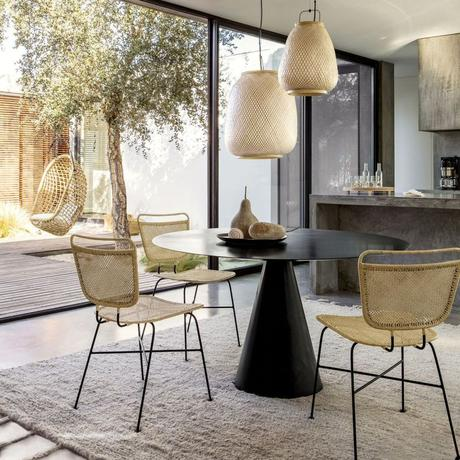 blog déco salon terrasse lampe suspension osier ovale cuisine ouverte emmanuel gallina