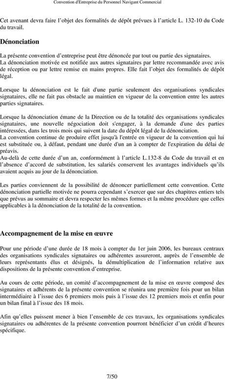 Convention d Entreprise du Personnel Navigant Commercial - PDF
