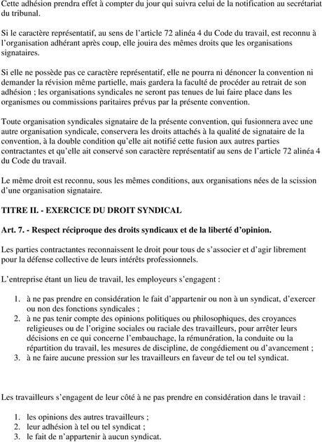 TEXTE DE LA CONVENTION COLLECTIVE INTERPROFESSIONNELLE - PDF