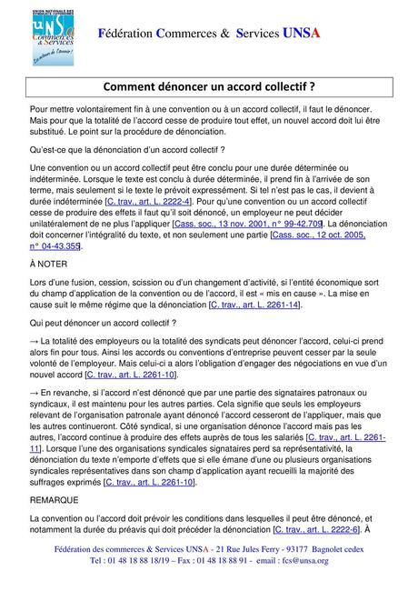 Calaméo - Bulletin Juridique Comment Dénoncer Un Accord Collectif