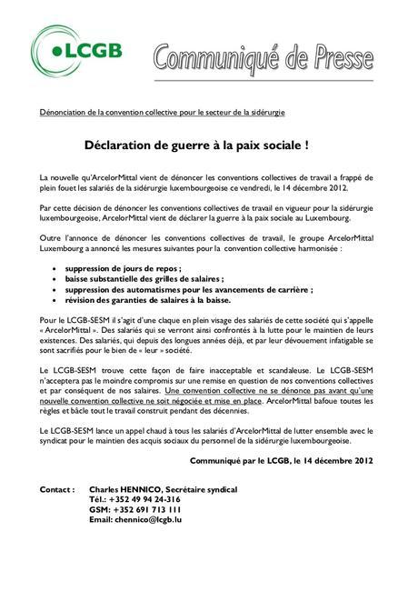 Communiqué lcgb 20121214 cct sidérurgie