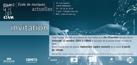flyer invitation - agence publicité CHOCOLAT NOIRAgence de ...