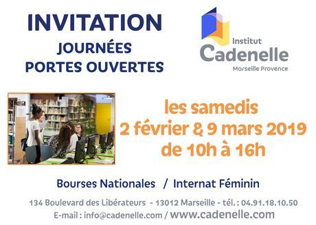 invitation JPO 2019 - Institut Cadenelle