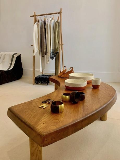 polder collaboration 2019 2020 monoprix bijoux mode vêtements penderie banc bois clematc