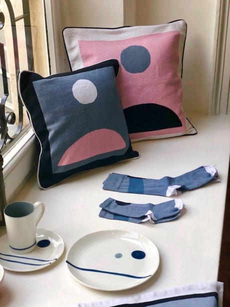 côme monoprix coussin vaisselle chaussette collaboration linge de maison - blog déco - clemaroundthecorner
