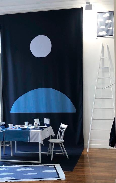 art de la table côme monoprix collaboration nappe nuage vaisselle clematc