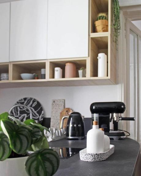 cuisine meuble scandinave plan de travail smeg bouilloire - clematc