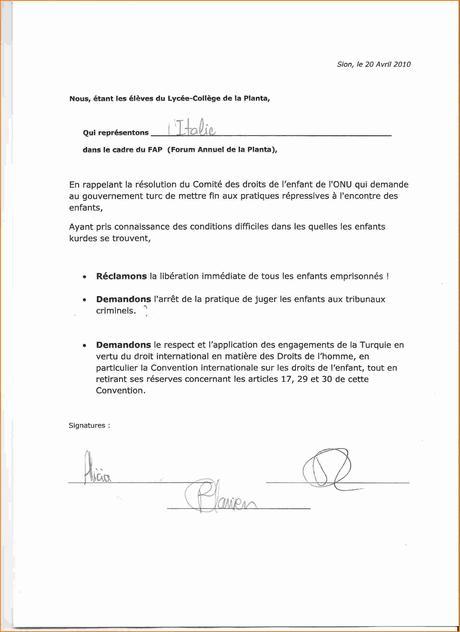 lettre de demission lycee - À Lire