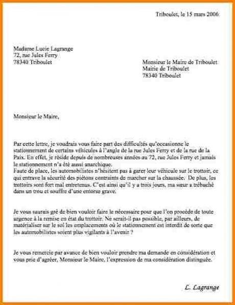 formule de politesse lettre a un maire
