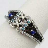 alliance argent avec lapis lazuli