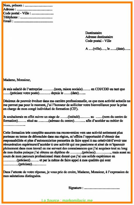 modèle lettre recours fongecif - À Lire