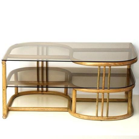 bent wood coffee table bent wood coffee table with smoked glass tops