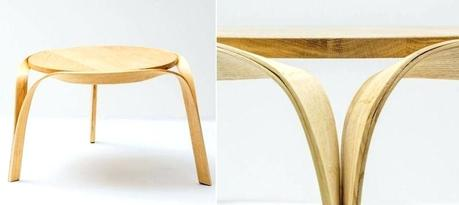 bent wood coffee table steam bending furniture by bar the coffee table