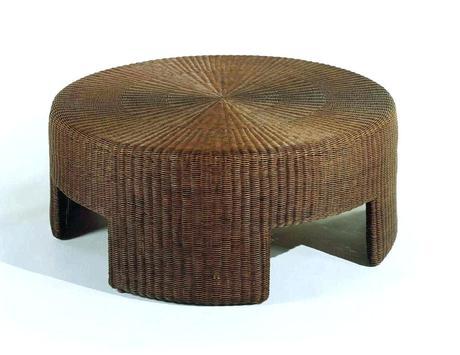 rattan ottoman coffee table round rattan coffee table