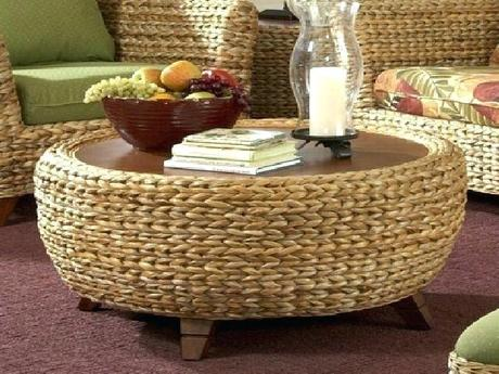 rattan ottoman coffee table rattan ottoman coffee table romantic wicker on charming round for attractive furniture astonishing design ideas