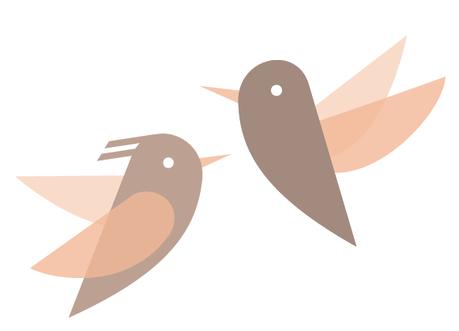dessin oiseaux pour fabrication pendentif
