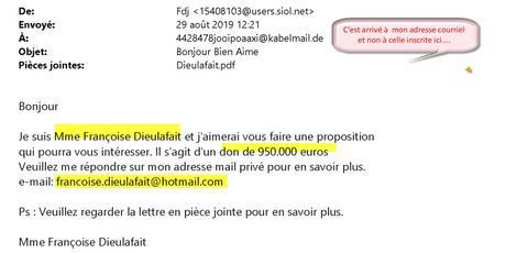 Arnaque démasquée – Françoise Dieulafait