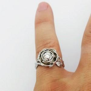 grosse bague fleur diamant pour femme