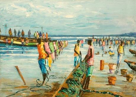 Plage 48 – Francis Amoah : Ghanaian painter