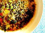Soupe bien consistante patates douces, lentilles épinards