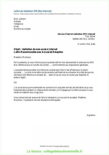 Resiliation D Un Contrat De Prestation De Service A Lire