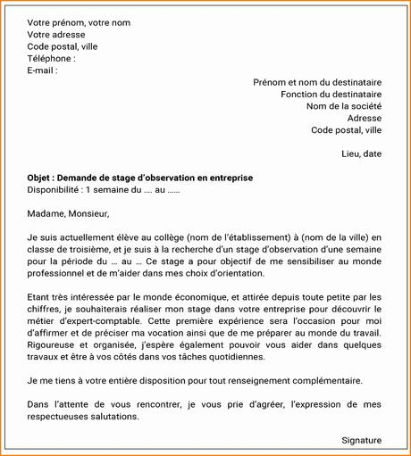 Exemple De Lettre De Motivation Projet Professionnel: Lettre De Motivation 3eme Prepa Pro