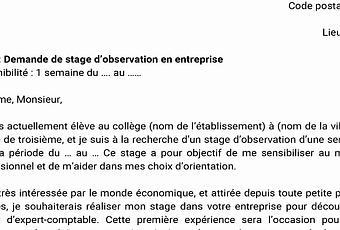 Lettre De Motivation 3eme Prepa Pro Paperblog