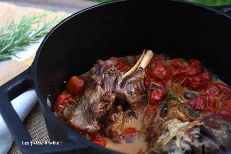 Souris d'agneau confites aux tomates cerises