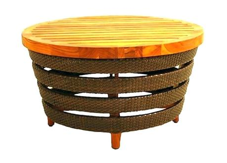 wicker outdoor coffee table side table with umbrella hole outdoor coffee e wicker by knight small