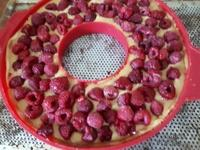 Tarte aux framboises et crème frangipane