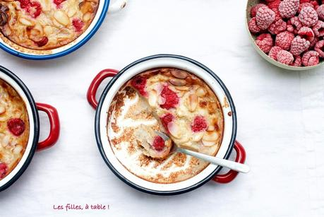 Clafoutis pêches framboises IG bas