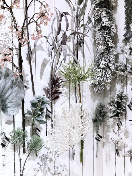 mur végétal blanc plante feuille givre décor noel romantique mariage hiverclematc