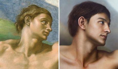 Il réalise des portraits hyperréalistes de tableaux et sculptures célèbres