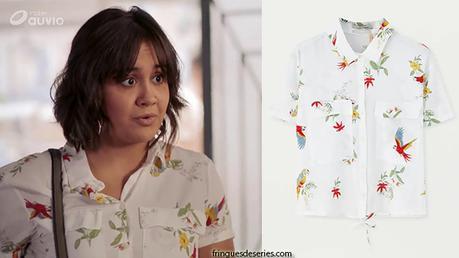 DEMAIN NOUS APPARTIENT : la chemise à perroquets de Noor dans l'épisode 549