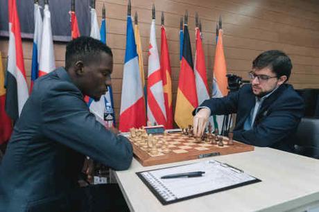Le Français Maxime Vachier-Lagrave face au maître Fide Nigérian Daniel Anwuli (2284) - Photo © site officiel