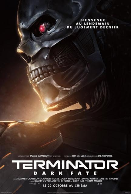 Affiches personnages VF pour Terminator : Dark Fate de Tim Miller