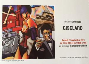 Galerie Estades  exposition GISCLARD  21 Septembre au 27 Octobre 2019
